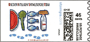 46-c diet postage stamp